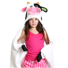 Hooded Towel Cow