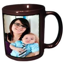 11OZ. CERAMIC PHOTO MUG BLACK