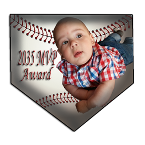 Baseball Home Plaque Wall Trophy