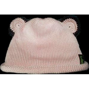 Silk Cotton Knit Bear Beanie