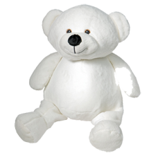 TEDDY BEAR 16'' WHITE