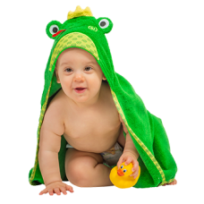 Hooded Towel Frog